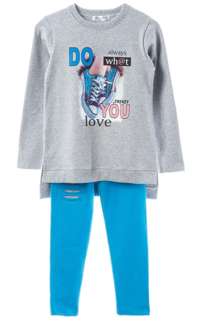 a2eab29cf60 SET TUNIK LEGGINGS – Grey cyan   Babylon Fashion