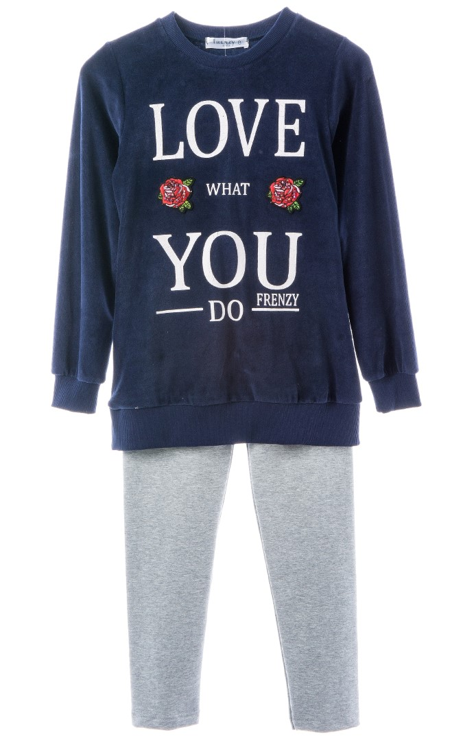 473bee42073 SET TUNIK LEGGINGS – Marine grey   Babylon Fashion