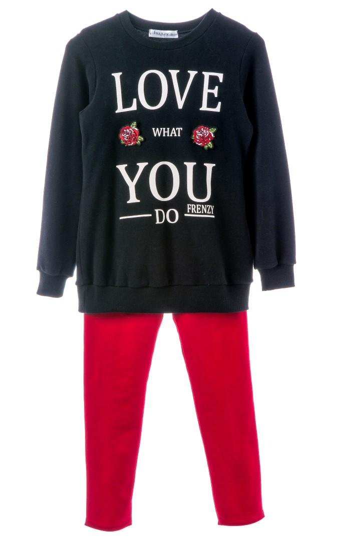 ffbc87e74a6 SET TUNIK LEGGINGS – Black red   Babylon Fashion