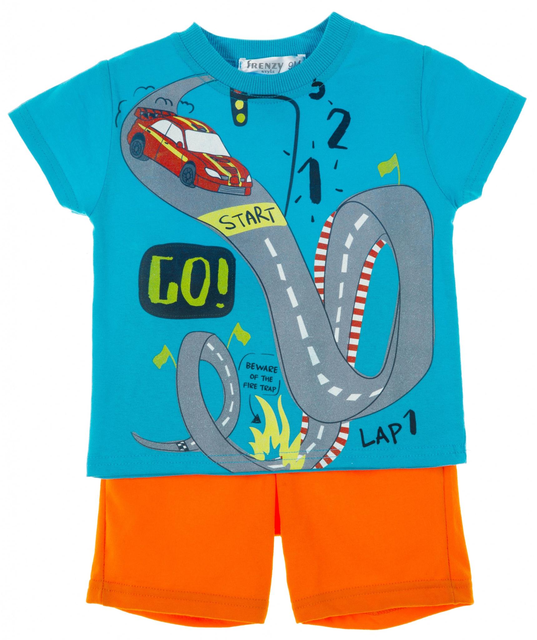 d56e642980b ΣΕΤ ΜΠΛΟΥΖΑ ΣΟΡΤΣ – Μέντα πορτοκαλί | Babylon Fashion Παιδικά ρούχα